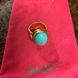 Silpada turquoise and gold ring